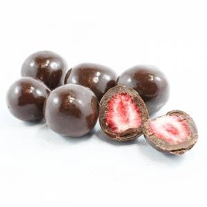 Freeze Dried Dark Chocolate Strawberries image
