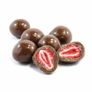 Milk Chocolate Freeze Dried Strawberries image